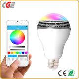 iPhone e lampadina astuta Android con colore di RGB 7W WiFi di musica che cambia la lampadina di RGB LED per le lampade della camera da letto LED