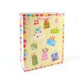 Geburtstag-rosafarbene Kleidung bereift Spielzeug-Verzierung-Supermarkt-Geschenk-Papierbeutel