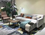 Современный дизайн 3-местный диван ткани с цельной древесины
