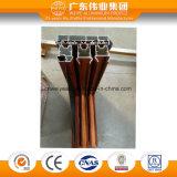 Profil en aluminium d'interruption thermique et de graines en bois pour la porte et le guichet
