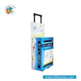 Fabricado en China de papel regalo de promoción de exposiciones Bolsa Trolley Trolley caja con ruedas