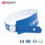 札をつけることのための1つの時間の使用PVC RFIDリスト・ストラップ