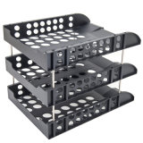 C2117 de 3 niveles estándar de escritorio de plástico Bandeja para rack de archivos /Mostrar