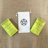 Bolsos orgánicos del algodón del lazo promocional de la bolsa para el embalaje del regalo