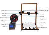 Espulsore di plastica del filamento di stampa di PLA 3D dell'ABS che fa stampante 3D