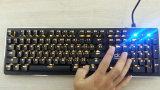 Профессиональная освещенная контржурным светом связанная проволокой клавиатура RGB разыгрыша механически