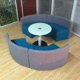 Gebogene Form-Sitzungs-Sofa für allgemeinen Kaffee-Bereich