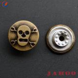 Джинсовая мода щетки 17мм никелевое покрытие Custom выгравированный логотип сплава куртка металлические прихватите хвостовик кнопки для джинсы