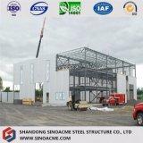 Garage préfabriqué vite assemblé multifonctionnel de mémoire de construction/entrepôt
