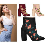 Новый стиль стиль Sweety Custom высокого каблука вышитый женщин обувь