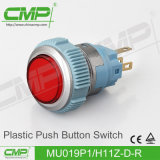 19mmの点ランプのプラスチック押しボタンスイッチ