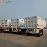 De Semi Aanhangwagen van de Vrachtwagen van de Stortplaats van de Kipper van de Vorm van U van de V-vorm