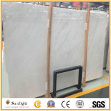 Tuiles de marbre en pierre blanches neuves chinoises bon marché de mur d'étage de Volakas