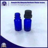 10ML 100ml frasco gotero de cristal azul para el aceite esencial de los ojos