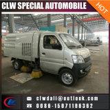 Petit camion de balayeuse de route de rue de nettoyage de vide de 600p 4X2 LHD 3m3