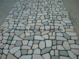 De Natuurlijke Grijze Straatsteen van het graniet/Cobble Steen met Netwerk