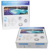 Indicatore luminoso subacqueo fissato al muro della piscina di 54W RGB LED con l'alloggiamento dell'acciaio inossidabile