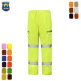 Hi по безопасности отражает работу желтого цвета брюки брюки