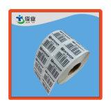 Самоклеющиеся этикетки штрих-кодов/Печать наклейку в рулон