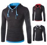 Logo personnalisé à manchon long des coutures Solid Color Design personnalisé Livraison rapide Sports Hoodies