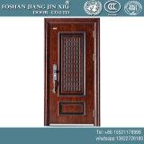 Portello interno del metallo di plastica dell'acciaio inossidabile doppio con la pittura del legno