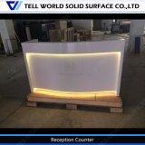 El Corian de diseño contemporáneo de mármol Artificial Mostrador de recepción de mobiliario de oficina