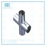 traversa saldata sanitaria dell'accessorio per tubi dell'acciaio inossidabile 304/316L