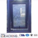 A Austrália em alumínio preto mate janela Janela de debulhar com bloqueio da alavanca