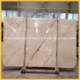 エヴァの黄色いクリーム色のベージュ大理石の石造りの床、フロアーリング、壁のタイル