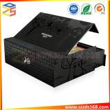 エヴァの黒い内部の皿が付いているカスタマイズされた印刷のロゴの磁気黒いギフト用の箱