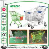 Carro de compras popular europeo de la maneta de la dimensión de una variable del metal U