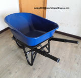 Wheelbarrow resistente com roda larga e enlameada
