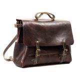 Уникальный дизайн большая емкость красноватого цвета кожаными Postman сумки для мужчин