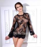 3/4 lingerie sexy transparente tellement chaude de pyjamas de lacet de chemises