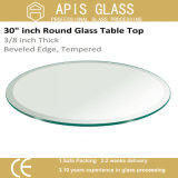 6mm 8mm 10mm 12mm Diâmetro 560mm 916mm Round / Circle Coffee Hotel Mobiliário Temperado / Toughened Tabletop Glass