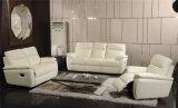 Il sofà del salone con il sofà moderno del cuoio genuino ha impostato (739)