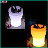 Mesa de luz de la boda LED Centerpieces nevera de la caja de hielo con percha