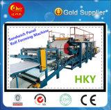 PLCは制御する機械(HKY)を作るサンドイッチパネルを