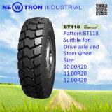 Pneu radial bon marché de camion de Bt118 11.00r20 pour l'essieu moteur