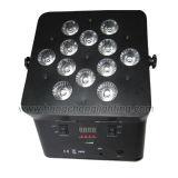 12X15W 5 в 1 Battery - приведенном в действие Wireless DMX СИД Flat PAR