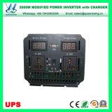 3000W DC12 / 24/48 / 72V إلى AC110 / 220V السلطة العاكس مع شاحن يو بي إس (QW-M3000UPS)