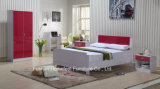 Ikea reden hohes Glanz-Rot-Kind-Schlafzimmer-Set an