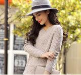 円形の首(13brdw038)が付いている女性のカシミヤ織のセーター