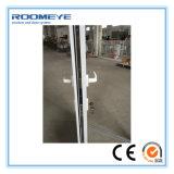 Puerta del marco de Roomeye UPVC con el obturador/el vidrio doble de la persiana/de la lumbrera con Girll
