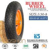 Hand-LKW-Reifen-Laufkatze-Reifen-pneumatischer Eber-Gummirad 3.50-6