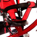 3つのカラー鉄骨フレームの子供のための物質的なベビーカーの三輪車