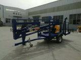 De hydraulische Gearticuleerde Opgezette Lift 10m van de Aanhangwagen van de Boom Lucht Werkende
