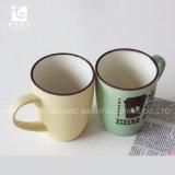 Canecas de café cerâmicas vitrificadas cor com projeto popular