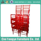 Eventsのための明確なRed Resin Chiavari Chair