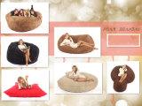 Grande saco de feijão de espuma para adulto com conforto Microfiber Suede para cadeira de saco de feijão